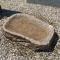 Fuglebad <br>Halmstad Granit<br> Håndhugget <br>60x35 cm.<br>