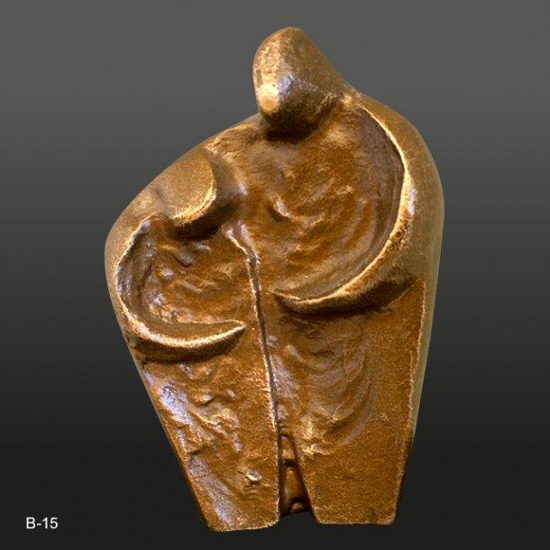 Bronze<br>Mor og barn<br>5x7,5 cm