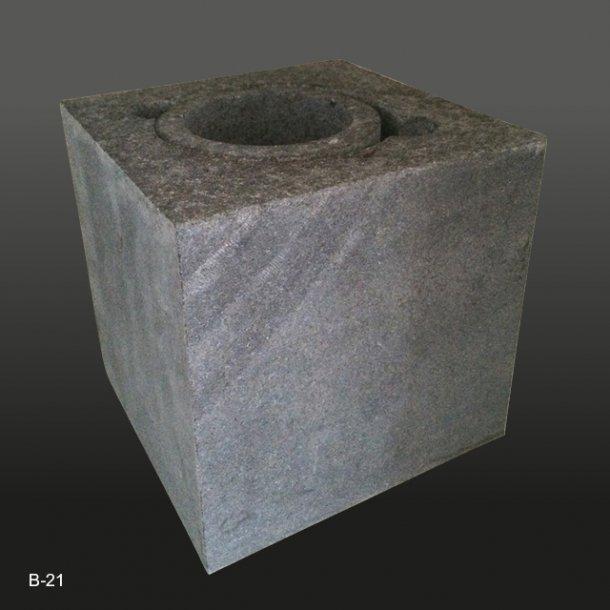 Granitvase<br>til nedgravning<br>15x15x15 cm