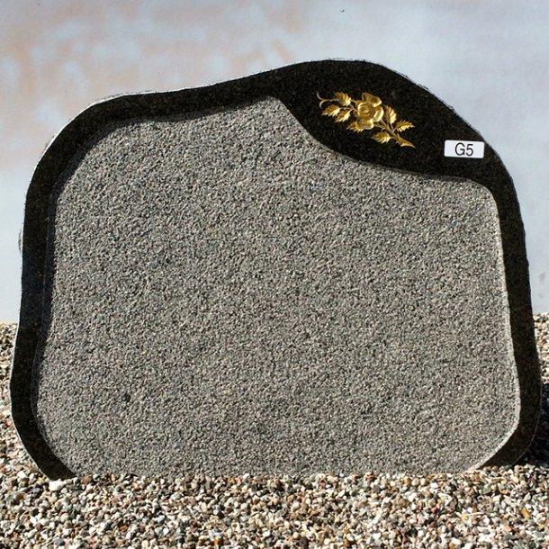 Blå Rønne granit<br>Bornholm<br>70x55x12 cm