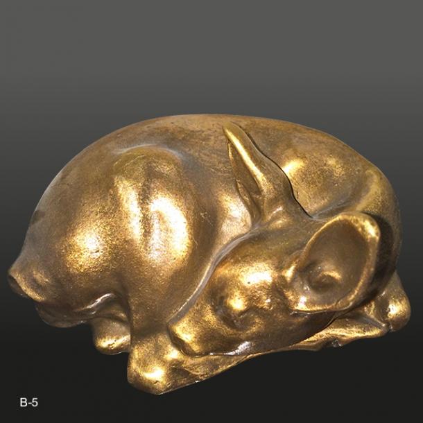 Bronze Hjortekid<br>11x6 cm