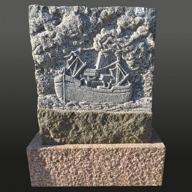 Blå Rønne<br>Moseløkke granit<br>Bornholm<br>60x95x18 cm