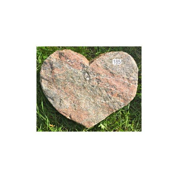 Hjerte I Gnejs <br> Nordisk <br> 41x30 cm.