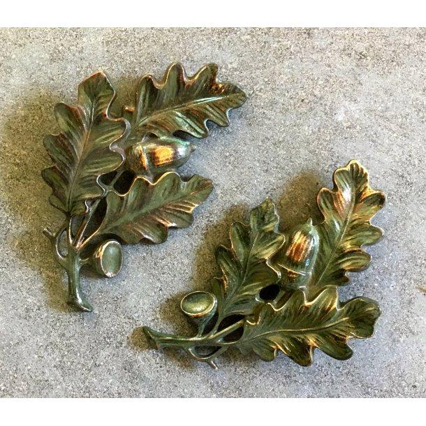 Bronze Egetræs Kvist <br> 12x8 cm