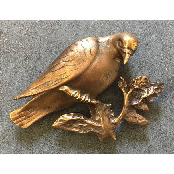 Bronze Due På Gren <br> 11x14 cm.
