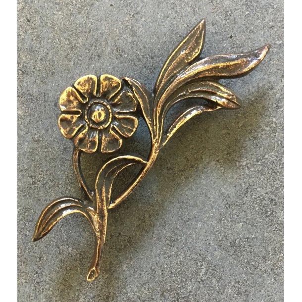 Bronze Blomst <br> 8,5x7,5 cm.