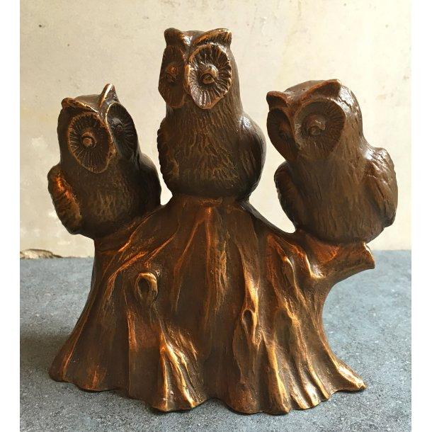 Bronze Ugler <br> 14x15 cm.